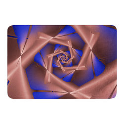 """KESS InHouse - Michael Sussna """"Vistica's Vista"""" Brown Memory Foam Bath Mat (24"""" x 36"""") - These super absorbent bath mats will add comfort and style to your bathroom. These memory foam mats will feel like you are in a spa every time you step out of the shower. Available in two sizes, 17"""" x 24"""" and 24"""" x 36"""", with a .5"""" thickness and non skid backing, these will fit every style of bathroom. Add comfort like never before in front of your vanity, sink, bathtub, shower or even laundry room. Machine wash cold, gentle cycle, tumble dry low or lay flat to dry. Printed on single side."""