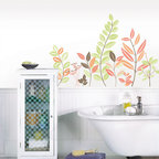 New for Back to School & Dorm Room Decor - Catalina wall art kit pretty leaves and foliage wall decal stickers New for Back to School & Dorm Room Decor