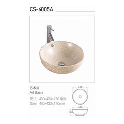 CASA's colore/ painted white ceramic wash basin - Made in Casa sanitary ware manufacture