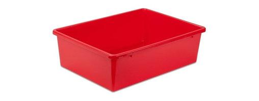 Large Plastic Bin, Red - Honey-Can-Do PRT-SRT1602-LgRed Large Plastic Bin, Red