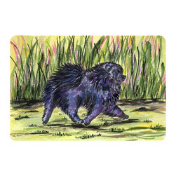 Caroline's Treasures - Pomeranian Kitchen or Bath Mat 24 x 36 - Kitchen or Bath Comfort Floor Mat This mat is 24 inch by 36 inch. Comfort Mat / Carpet / Rug that is Made and Printed in the USA. A foam cushion is attached to the bottom of the mat for comfort when standing. The mat has been permanently dyed for moderate traffic. Durable and fade resistant. The back of the mat is rubber backed to keep the mat from slipping on a smooth floor. Use pressure and water from garden hose or power washer to clean the mat. Vacuuming only with the hard wood floor setting, as to not pull up the knap of the felt. Avoid soap or cleaner that produces suds when cleaning. It will be difficult to get the suds out of the mat.