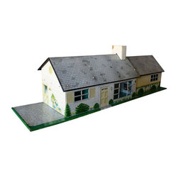 Used Vintage Ranch Playhouse - Looking for a hip ranch home? This cool midcentruy rancher could be your dream home with no closing costs! Timeless toy or use on your desk to hold accessories like stapler, tape... A bit of the front window paint is worn otherwise in vintage mint condition.