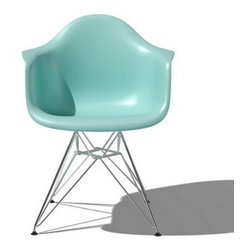 Herman Miller - Herman Miller | Eames® Molded Plastic Armchair with Metal Base Options - Design by Charles & Ray Eames, 1948.