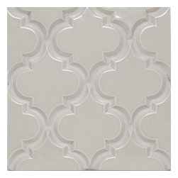 Mission Stone Tile - Beveled Arabesque Tile, Vento Grey, 1 Square Foot - Sold by the Square Foot