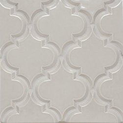 Mission Stone Tile - Beveled Arabesque Tile , Vento Grey - Beveled Arabesque Tile - Vento Grey-Sold Per SF (8 pcs per SF)
