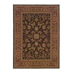 "Oriental Weavers - Traditional Nadira 2'3""x4'5"" Rectangle Brown-Rust Area Rug - The Nadira area rug Collection offers an affordable assortment of Traditional stylings. Nadira features a blend of natural Blue-Ivory color. Machine Made of Wool the Nadira Collection is an intriguing compliment to any decor."