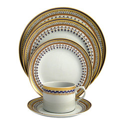 Mottahedeh - Mottahedeh Chinoise Blue 5-Piece Place Setting - Mottahedeh Chinoise Blue 5-Piece Place Setting
