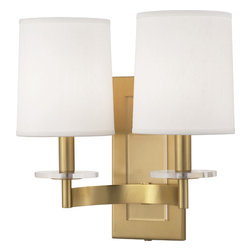 Robert Abbey - Alice Wall Sconce, Antique Brass - -2-60W Max.