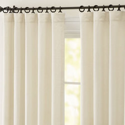 Peyton Linen/Cotton Drape - The Peyton drape is my go-to because it is one of the prettiest and most affordable lined, linen-blend drapes available.