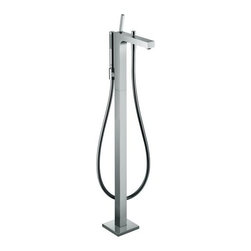 "Hansgrohe - Hansgrohe 39451001 Chrome Axor Citterio Axor Citterio Tub Filler - Axor Citterio Tub Filler Faucet Free Standing with, Single Function Hand Shower, 49"" Techniflex Hose and Diverter Tub Spout Less ValveMounts on floor beside tub Ceramic cartridge Diverter for Hand shower Handshower with full spray 63"" techniflex hose Valve required - Must be ordered separately *Certain areas require for this unit to be pressure balanced. Check your local plumbing codes. You may purchase the in-line pressure balance valve separately - 13418"