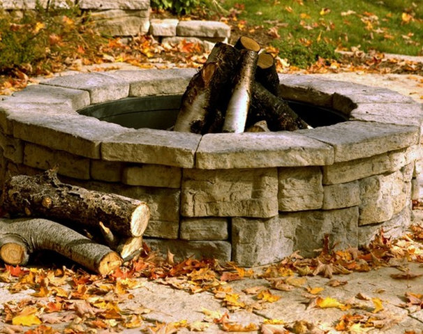 Traditional Fire Pits by HIGH PRAIRIE LANDSCAPE SUPPLY