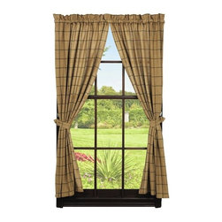 India Home Fashions - Burlap Panel, Natural, Burlap Check - Burlap Panels are part of a new collection from primitive home decor leader India Home Fashions. Window treatments are an easy way to instantly update any room! The panels measure 72x63 and are available in Burlap Star and Burlap Check Collections in wine, black and natural.
