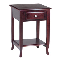 Office Star - Office Star 20x20 Accent Table in Merlot - OSP Designs Accent Table What's included: Accent Table (1).