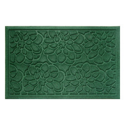 Entryways - Flowers Weather Beater Polypropylene Mat 22 in. x 35 in. - This distinctive design from Entryways Weather Beaters collection combines two characteristics that make it an ideal floor or door mat. Crafted to meet the industry's highest standards, it is rugged enough to trap rain, snow, dirt and debris. Yet it is also designed to add classic sophistication to any decor.
