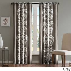 Madison Park - Madison Park Laina Cotton 84-inch Curtain Panel - Your window will take on an elegant look when you dress it in this 84-inch curtain panel. This sophisticated panel features a damask design that is printed on 100 percent machine-washable easy-care cotton. It is available in your choice of colors.