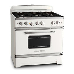 36-Inch Retro Stove, White - Here's the white Big Chill gas stove. Isn't it beautiful? A real work of art.