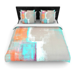 "Kess InHouse - CarolLynn Tice ""Gifted"" Gray Aqua Cotton Duvet Cover (Twin, 68"" x 88"") - Rest in comfort among this artistically inclined cotton blend duvet cover. This duvet cover is as light as a feather! You will be sure to be the envy of all of your guests with this aesthetically pleasing duvet. We highly recommend washing this as many times as you like as this material will not fade or lose comfort. Cotton blended, this duvet cover is not only beautiful and artistic but can be used year round with a duvet insert! Add our cotton shams to make your bed complete and looking stylish and artistic!"