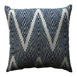 Pillow Perfect - Bali Blue, White Throw Pillow - - Pillow Perfect Bali Navy 18-inch Throw Pillow  - Sewn Seam Closure  - Spot Clean Only  - Finish/Color: Blue/White  - Product Width: 18  - Product Depth: 18  - Product Height: 5  - Product Weight: 1.5  - Material Textile: 100% Cotton  - Material Fill: 100% Recycled Virgin Polyester Fill Pillow Perfect - 512273