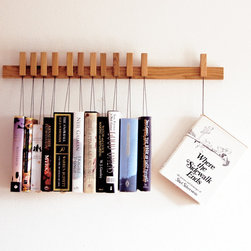 Custom-Made Wooden Book Rack, Oak by Old and Cold - I just love how unique this handmade wooden book rack is. It's a piece of art in itself.