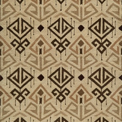 """Momeni - Momeni Habitat HB-03 (Cream) 2'3"""" x 8' Rug - Habitat features a globally inspired blend of influences, from Ikat, Uzbek Suzani and indigenous craftsman styles. Hand-tufted by expert artisans that encompasses an organic texture and feel. Made of 100% wool fiber, featuring a hard twist construction, this exquisite collection embraces a fashion-forward color palette exhibiting ethnic and nomadic motifs."""