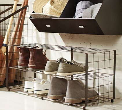contemporary shoeracks by Pottery Barn