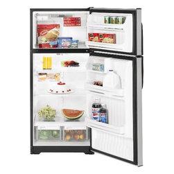 GE - GE Clean Steel 16.6 cu. Ft. Top Freezer Refrigerator - Features:
