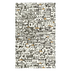 Cole & Son - Cole & Son Mediterranea White by Fornasetti Wallpaper - The Cole and Son archive consists of approximately 1,800 block print designs, 350 screenprint designs and a huge quantity of original drawings and wallpapers, representing all the styles from the 18th, 19th and early 20th centuries. Cole and Son is now the primary source for entirely authentic period wallpapers printed by the original method. Designs are carefully selected, adapted and colored by the Design Studio and printed by craftsmen to produce wallpapers faithful to the character of the original document yet contemporary in feel.