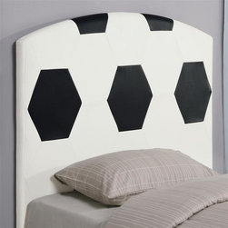Coaster - Youth Twin Soccerball Headboard - Casual style. Upholstered. Clean straight edges. 44 in. L x 2.5 in. W x 50 in. H. WarrantyCreate a fun look in the youth bedroom in your home with a sports headboard.