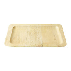 Bamboo Studio - Bamboo Studio 12-Inch Small Rectangle Bamboo Tray, Set of 2 - Make sure your serveware is as healthy for the planet as your snacks are for your health. Made entirely from sustainable bamboo, this small tray is an ecofriendly alternative to plastic and paper. The rectangular shape is just right for assorted crudités, fresh dips or a beautiful selection of seasonal fruit.