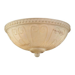 Savoy House Lighting - Savoy House FLGC-850-CM Indigo 3 Light Fan Light Kits, Cream - A beautifully detailed light kit with Cream Carved Marble glass and a Cream finial.