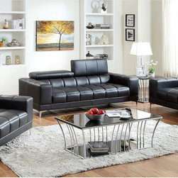 Furniture of America - Furniture of America 3-piece Contemporary Living Room Set - Add comfort and style to your living space with the Furniture of America 3-piece Living Room Set. With its contemporary style,this set is as fashionable as it is practical.
