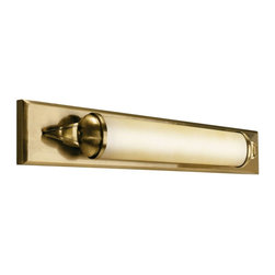 Kichler - Kichler Pierson Bathroom Lighting Fixture in Brass - Shown in picture: Bath 1Lt Fluorescent in Antique Brass