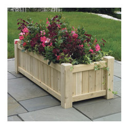 Large Rectangular Cedar Planter - This beautiful and classic planter box is a perfect alternative to traditional gardening. Place it on your porch, patio, deck or in your garden area.