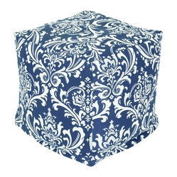 Outdoor Navy Blue French Quarter Small Cube