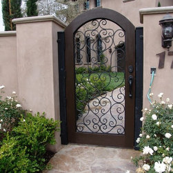Mediterranean custom wood & iron gate -