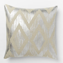 Metallic Chevron Pillow Cover, Silver - I love this trendy metallic chevron pillow. It's the perfect accent for your sofa, bed or armchair.