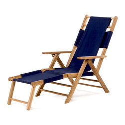 All Things Cedar - Teak Beach Lounger - Originally designed for commercial use by resorts along the Atlantic coast the Cotton Hammock Beach Chair became a quick favorite for guests who wanted to take them home when the vacation was over. Item is made to order.