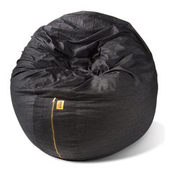 Jaxx Casual Living - Jaxx Cocoon 6-Foot Bean Bag Lounger - Dark Denim - The Cocoon has as much functionality as it does style. It makes a statement as the centerpiece to a room or nestled into a corner. Not to mention it is heaven to lay back and relax in, with extra room in case you decided to invite some company onto the bean bag with you. Plus, when you flip it onto its side the supporting seams make a great seat and lounger as the Cocoon transforms into a retro bean bag. A true metamorphoses really.