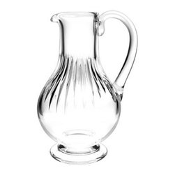 Baccarat - Baccarat Massena Pitcher - A pitcher to grow old with, this Baccarat crystal decanter is a classic, timeless piece that will accompany you through youth, middle age and your sunset years. A touchstone for your family, it's always a festive occasion when one uses the Baccarat crystal.