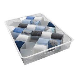 32-Compartment Drawer Organizer - My sock drawer is a mess. The mates are paired together, but the socks are just tossed in. This 32-compartment drawer organizer will make finding a pair of socks easy — and not as frustrating as it is now.