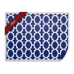 diPotter LLC - 24 Fret Placemats (Navy) - 24 Reversible Paper Placemats (Navy)