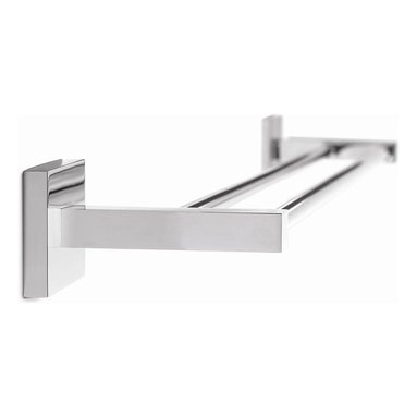 Croydex - Brompton 26 in. Double Towel Rail - QB512941Y - Manufacturer SKU: QB512941YW. Durable Brass Construction. High Quality Chrome Plated Finish. Concealed Screws. All Screws Included. Easy to Install. 25.98 in. W x 4.72 in. L x 2.36 in. HElegant, stylish and with a touch of class! Brompton is a high quality range of bathroom accessories that are brass construction, but beautifully finished in high quality chrome. A favorite for any design of bathroom!