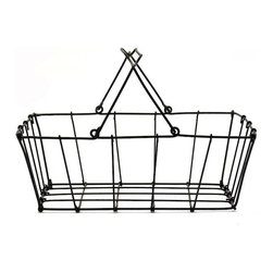 Wire Basket - I recently wrote about the versatility of wire baskets. Really, what can't these things be used for? Pick up a few and you're bound to find myriad good uses for them around your house.