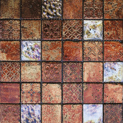 Maximo Glass Tile Etched Blend A -