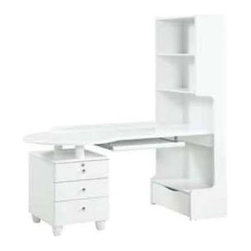 Global Furniture - Study Desk in White Finish - Made of MDF and paper veneer. 56 in. W x 26 in. D x 67 in. H