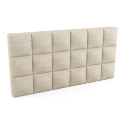 """Viesso - Upholstered Headboard - 72""""l x 36""""h x 5""""d - If you already own a bed and are only looking for just an upholstered headboard on its own, we can help. You have numerous standard sizes to select from including this one. We can customize to the inch if needed, and have a huge offering of fabrics. There are also finish options such as tufting, quilting and even storage."""