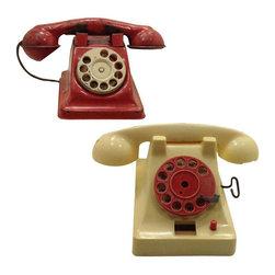 Vintage Toy Telephones - A Pair - $65 Est. Retail - $40 on Chairish.com -