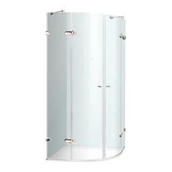 """VIGO Industries - VIGO 40 x 40 Frameless Neo-Round 1/4"""" Shower, Without Base - VIGO designs easy-to-install shower enclosures to enhance any bathroom and suit your needs."""