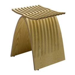 """Herman Miller - Capelli Stool by Herman Miller - In her design of the Capelli Stool by Herman Miller®, Carol Catalano used her own entwined fingers as the model. The stool is made out of two identical pieces of molded plywood, with undulating """"fingers"""" that interlock without the need for tools or fasteners. It can then also be unfolded and stacked together for easy storage. Since its early beginnings in 1905 (then known as the Star Furniture Company), Herman Miller has stood as one of the leaders in ergonomic furniture design and manufacture. Today, with a strong focus on designing furnishings with excellent form and function, this Michigan-based company produces a variety of home and office products that improve the human experience wherever people work, create, learn and live."""