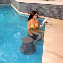 Pure Liquid Pool Products LLC - Liquidseat- Sink. Sit. Socialize, Brown Granite - Liquidseat- Sink. Sit. Socialize.  is a patented underwater pool seat by Pure Liquid Pool Products LLC.
